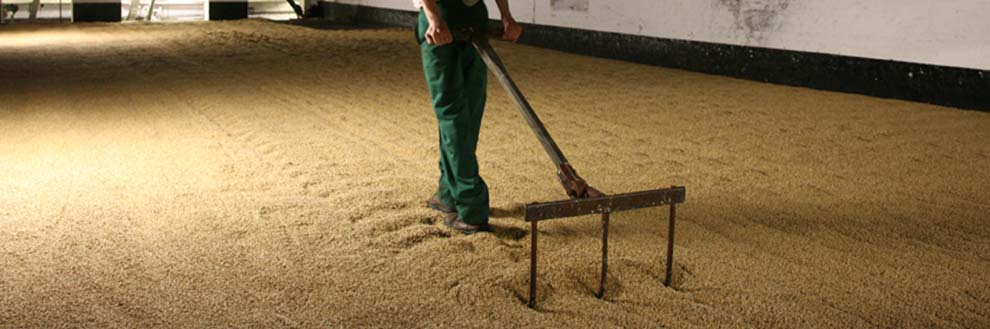 Our malt is still made the traditional way: by hand, on floors
