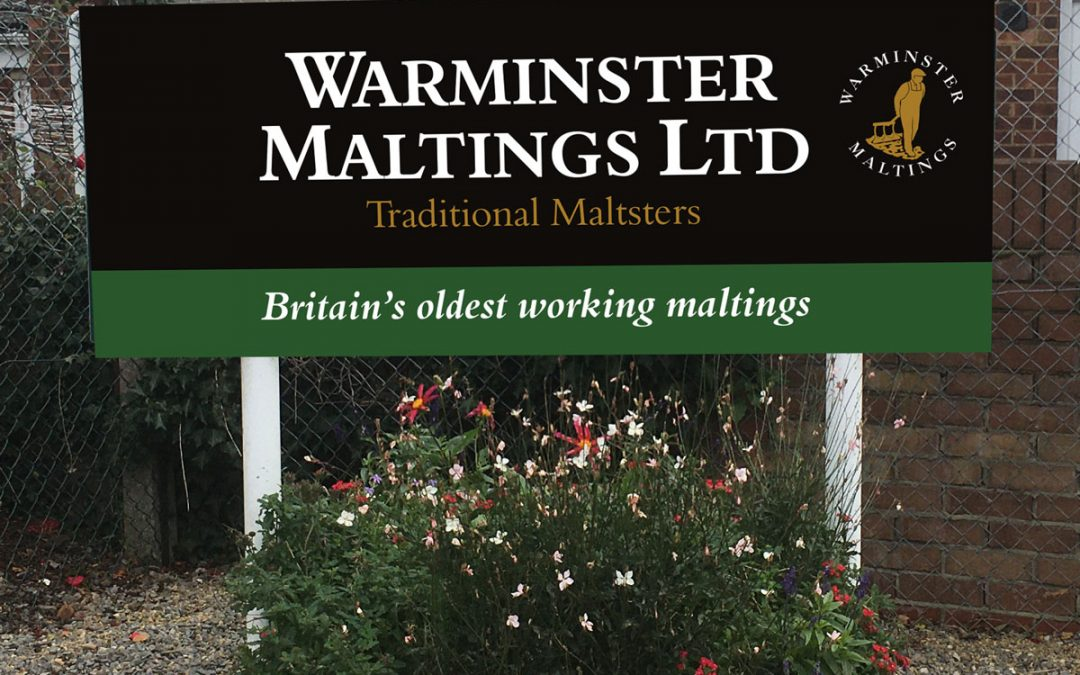 Warminster Maltings Entrance Sign